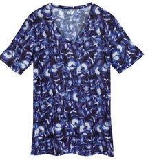 T-shirt mixte imprimé pois, aubergine, endive ou navet