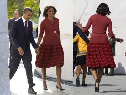 Michelle Obama, au MLK Memorial, dans sa robe Alaia préférée