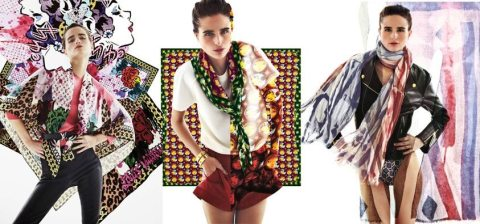 Trois artistes de street art bousculent les foulards Vuitton ce printemps