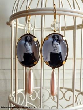 Boucles d'oreilles Mademoiselle Confetti en verre et laiton (17 €)