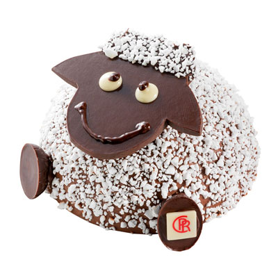 """Mangez-moi""! Mouton en chocolat Corné Port Royal (15 €, 150g)"