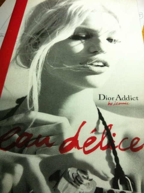 Lara Stone rejoue BB à Saint-tropez pour Dior Addict Eau délice