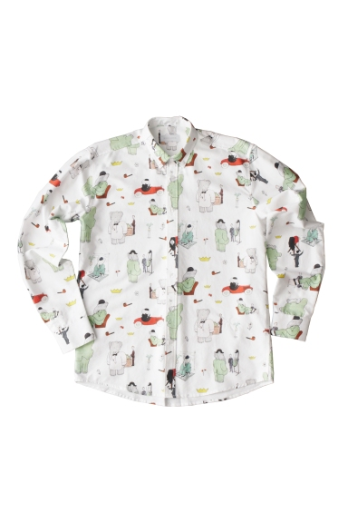 Chemise Oxford Babar x Soulland (195 €)
