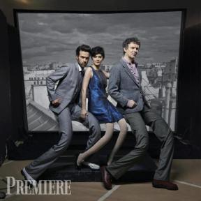 La fine équipe du film: Romain Duris, Audrey Tautou et le réalisateur Michel Gondry (doc. Première)