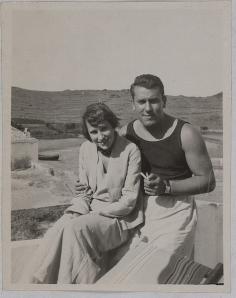 Gala Dali et René Char à Cadaquès en 1935