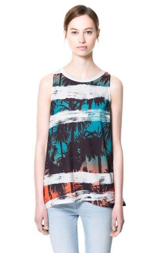 Débardeur imprimé palmiers, Zara (22,95 €)