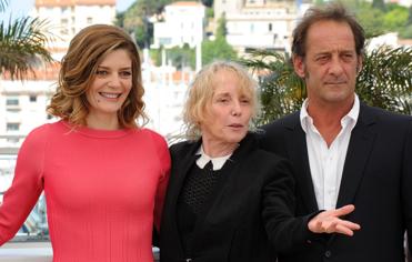 Chiara Mastroianni, Claire Denis et Vincent Lindon à Cannes