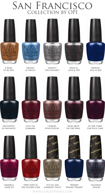 San Francisco OPI, une collection urban chic