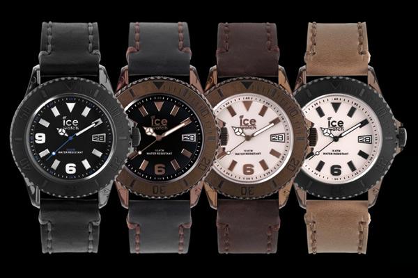 Look rétro et bracelet en cuir vieilli cousu main pour l'Ice Vintage d'Ice Watch