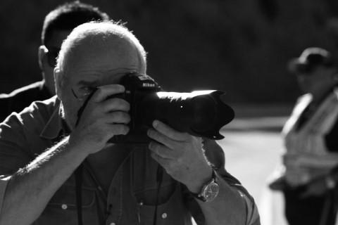 Peter Lindbergh en plein shooting pour Silhouette