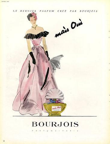 Mais oui! parfum Bourjois, publicité de 1948