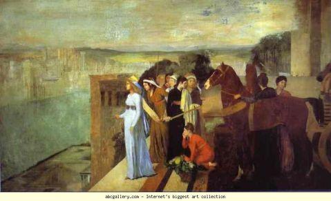 Sémiramis construisant Babylone, vue par Edgar Degas