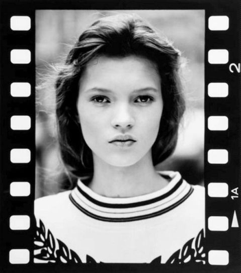 Kate Moss à 14 ans, photographiée par David Ross