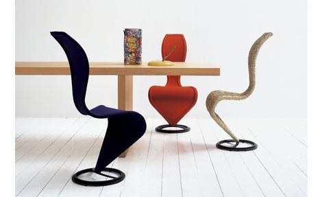 La célébrissime S Chair, belle comme un point d'interrogation (Tom Dixon)