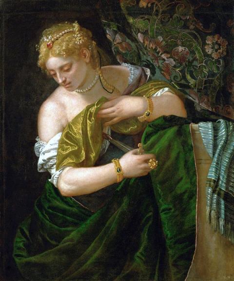 """Maître absolu de la couleur et des textures, Véronèse signe ici un éblouissant """"Suicide de Lucrèce"""""""
