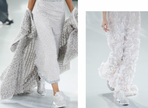 La running du soir version Masaro chez Chanel Haute Couture