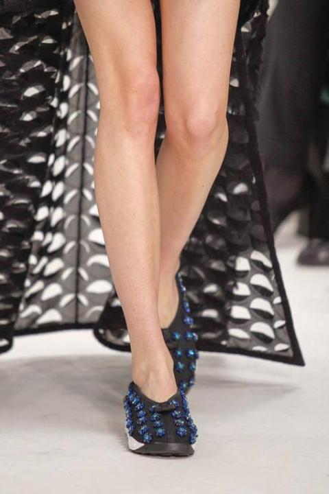 Vues par Raf Simons, les 'skets fleuries à enfiler, Dior Haute Couture printemps/été 2014
