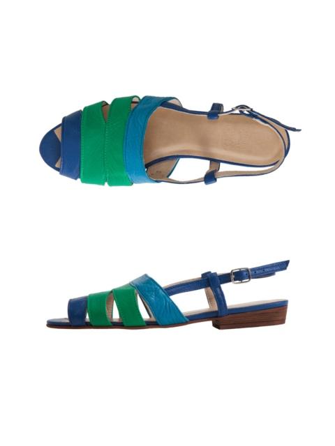 Sandales tricolores en cuir American Apparel