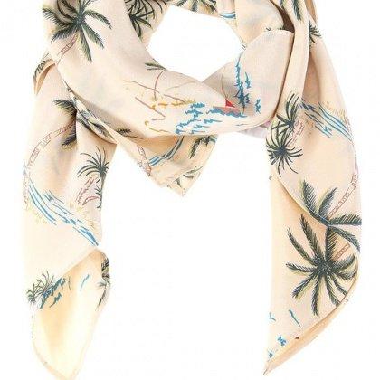 Foulard imprimé palmiers en soir, Des Petits Hauts