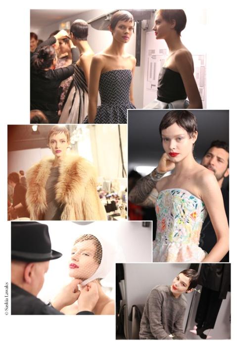 Préparatifs en coulisses du défilé haute couture Dior printemps/été 2014 (doc. vogue.fr)