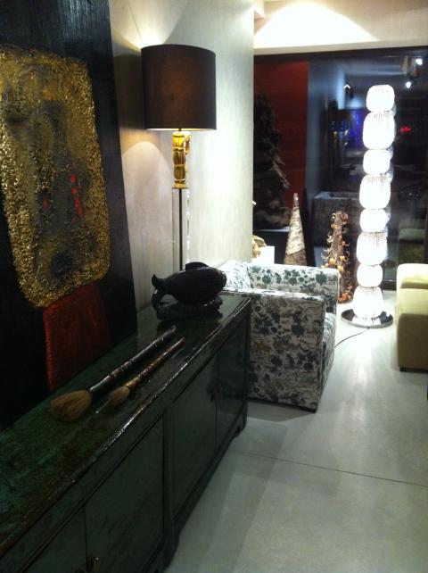Un show-room spacieux, zen et inspirant... Rouge de Chine, à Lasne (ph. VD)