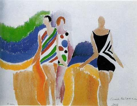 """Girls in swimming costume"" Sonia Delaunay"