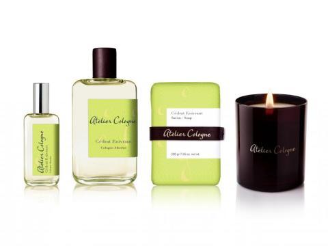 La gamme Cédrat Enivrant d'Atelier Cologne comprend aussi un savon et une bougie parfumée