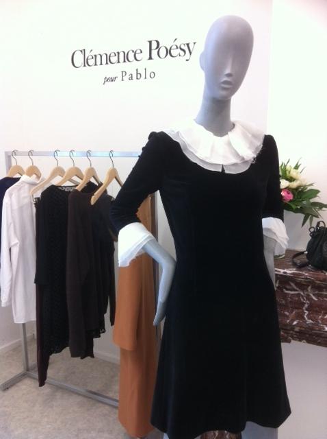 Robe noire de la collection capsule Clémence Poésy pour Pablo (sortie septembre 2014 - ph. VD)