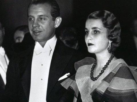 Barbara Hutton et son mari, le prince Alexis Mdivani, au Metropolitan Opera de New York