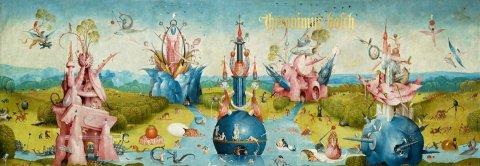 Le Jardin des délices, planche tirée de l'ouvrage Hyeronymus Bosch, Taschen