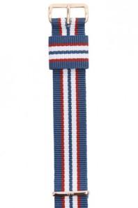 Bracelet Nato en nylon tricolore, Timex