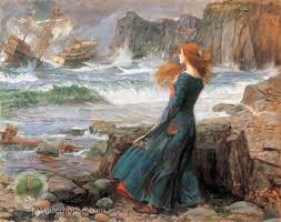 "Miranda dans ""La Tempête"", peinte par John William Waterhouse"