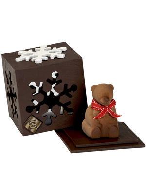 On aide volontiers ce petit ours à sortir de son hibernation! Cube Surprise, Atelier du Chocolat