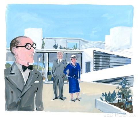 Le Corbusier et le couple Savoye revivent sous le pinceau virtuose de Jean-Philippe Delhomme