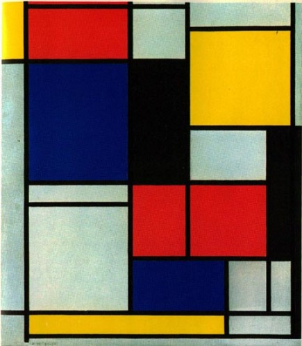 Piet-Mondrian-composition