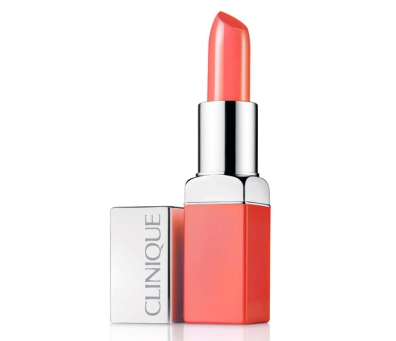 """Melon Pop"", Rouge intense + Base lissante 2 en 1, Clinique (24 €)"